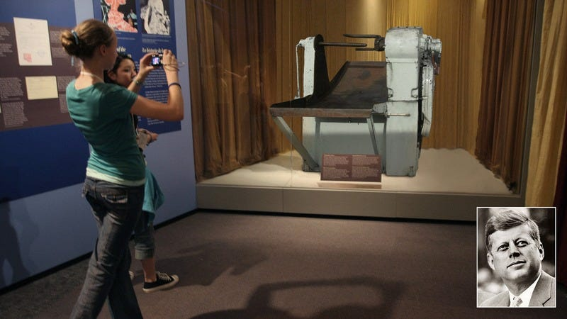 The taffy machine that JFK died in.