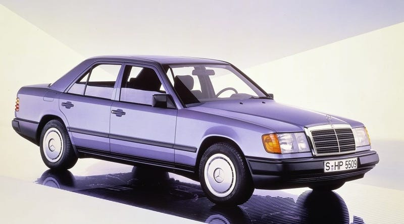a3f9f888d83 Illustration for article titled The W124 Mercedes E-Class Was Sofa King Cool