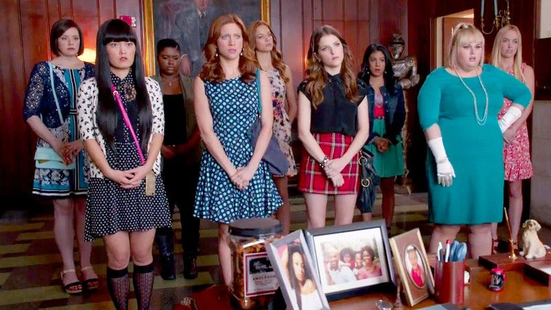Some of the cast of Pitch Perfect 2