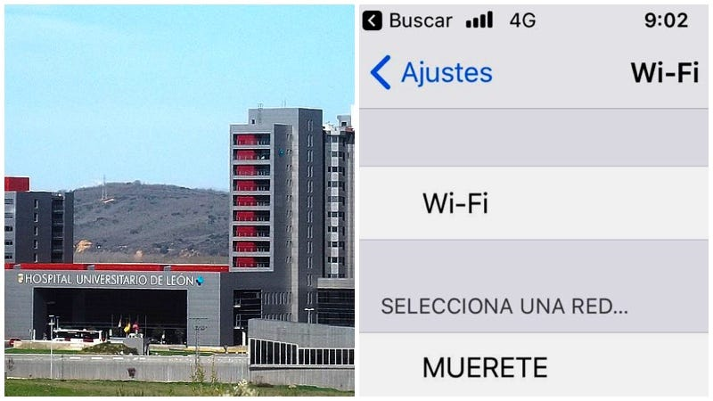 El desubicado nombre de la red de wifi de un hospital — Escándalo