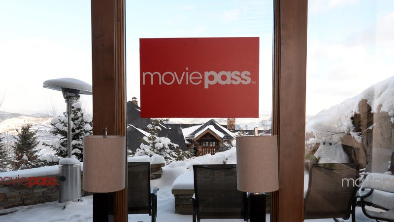 A view of signage at the MoviePass House Park City during Sundance 2018 on January 21, 2018 in Park City, Utah.
