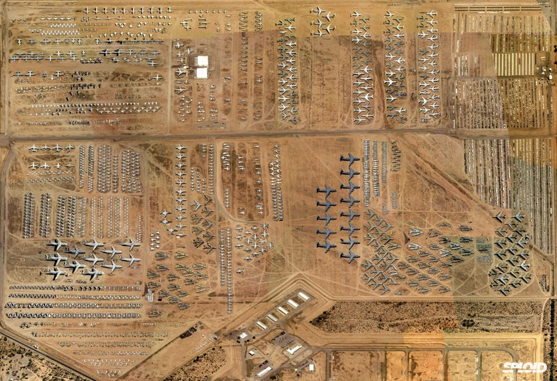 Illustration for article titled A fascinating view into the US Air Force boneyards