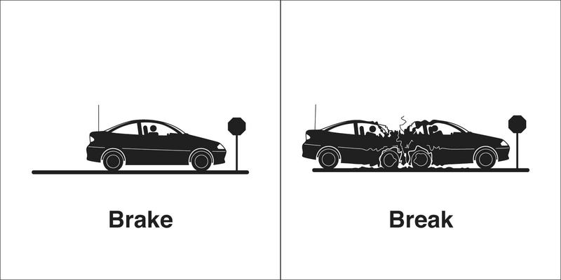 Illustration for article titled Brake or break? A grammar rant.