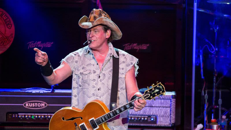 """Illustration for article titled Ted Nugent and Frank Stallone are fighting hard for the prestigious """"Shittiest Parkland take from an irrelevant musician"""" prize"""