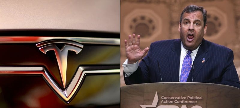 Illustration for article titled Chris Christie Doesn't Want The Blame For New Jersey's Tesla Sales Ban