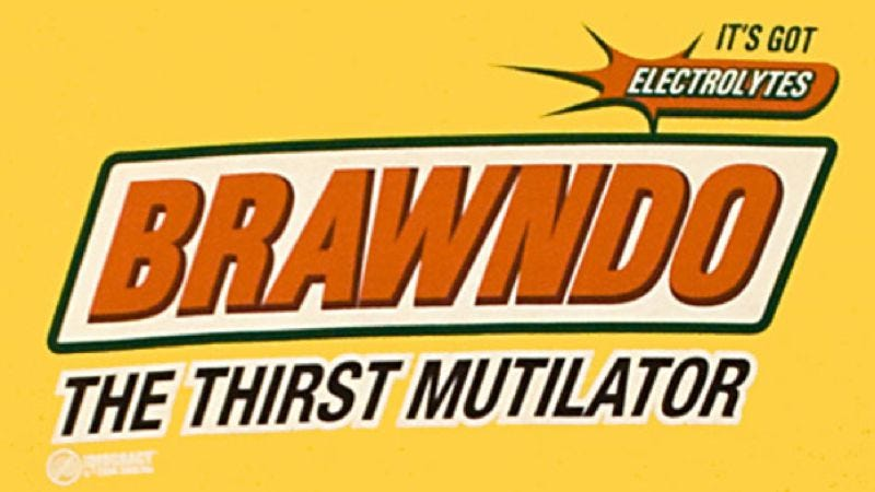 Illustration for article titled Idiocracy's Brawndo is now available in a drinking fountain, with electrolytes