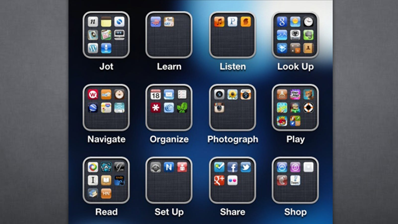 Organize Your Apps By Action Instead Of Category For A More