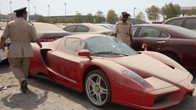 Illustration for article titled Abandoned Dubai Ferrari Enzo