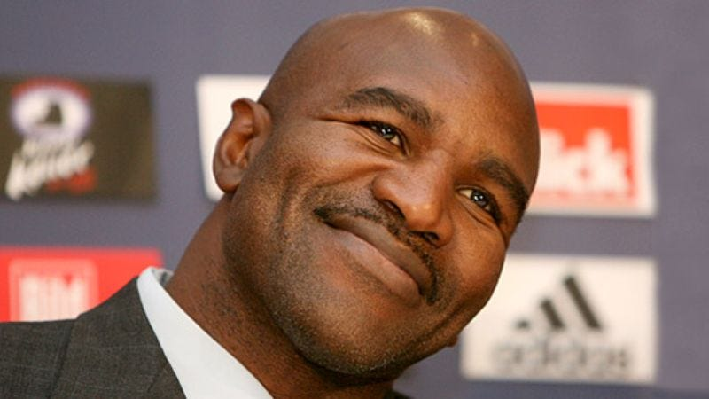 Illustration for article titled Evander Holyfield Claims His Quest For Severe Brain Damage Keeps Him Fighting