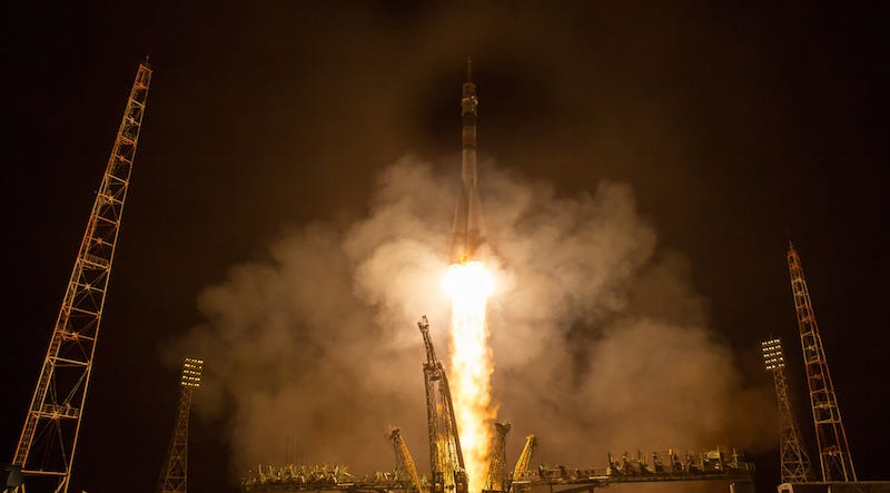 An earlier launch of the Soyuz to the ISS (Image: NASA)