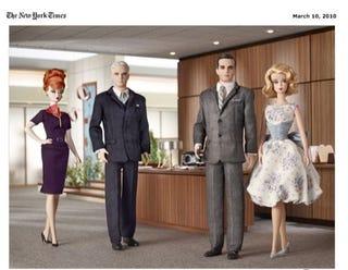 Illustration for article titled Mad Men Barbie Dolls: Awesome, Absurd