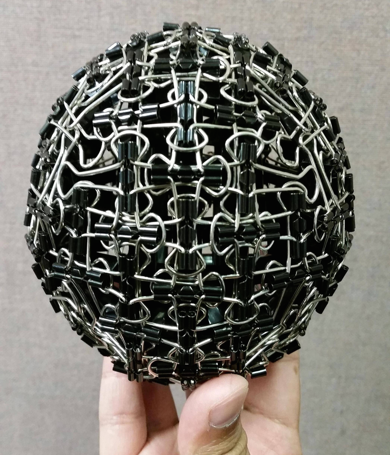 Illustration for article titled Behold, A Sphere Made Of Binder Clips