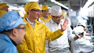 Illustration for article titled Glorious Apple Leader Surprises iPad Minions with Foxconn Visit and Smiles