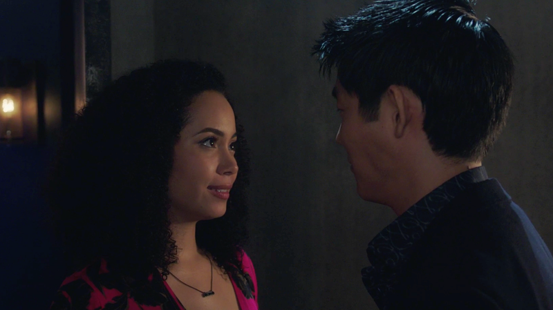 Macy (Madeleine Mantock) goes on a date with a secret bug boy that ends badly.