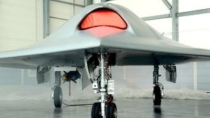 Illustration for article titled Europe's First Stealth Drone Looks Like An Angry Cylon