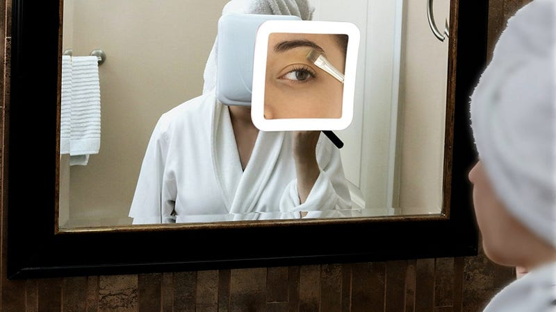 Fancii 10X Magnifying Lighted Makeup Mirror, $27