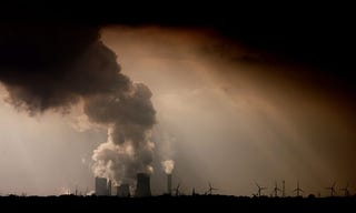 Those bringing climate litigation hope to force governments to act and companies to pay damages for their role in causing global warming. Photograph: Oliver Berg/EPA