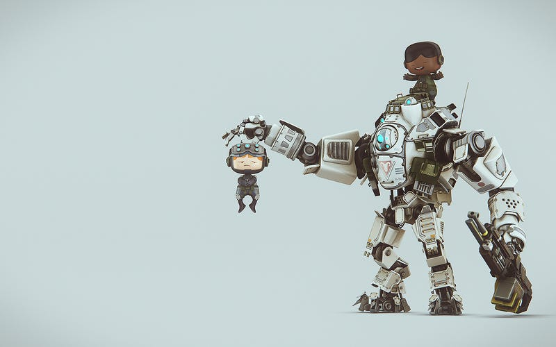 Illustration for article titled Adorable Titanfall Wallpapers