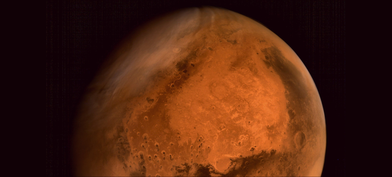 Illustration for article titled The First Full Color Photo of Mars from India's Orbiter