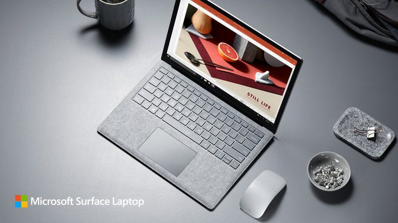 Illustration for article titled Surface Laptop es el nuevo portátil de Microsoft con Windows 10 S y más de 14 horas de batería