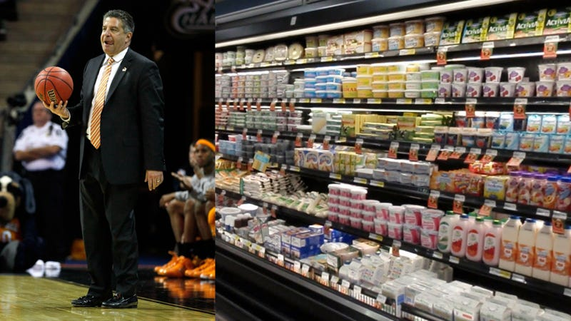 Illustration for article titled Banished From The NCAA, Bruce Pearl Will Now Sell You Groceries