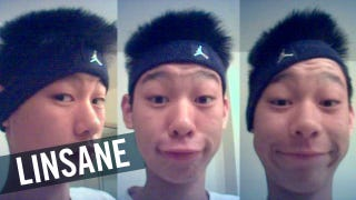 Illustration for article titled On His Blog, 15-Year-Old Jeremy Lin Imitated The Headband Fashions Of NBA Players, Including Derek Fisher And Ben Wallace