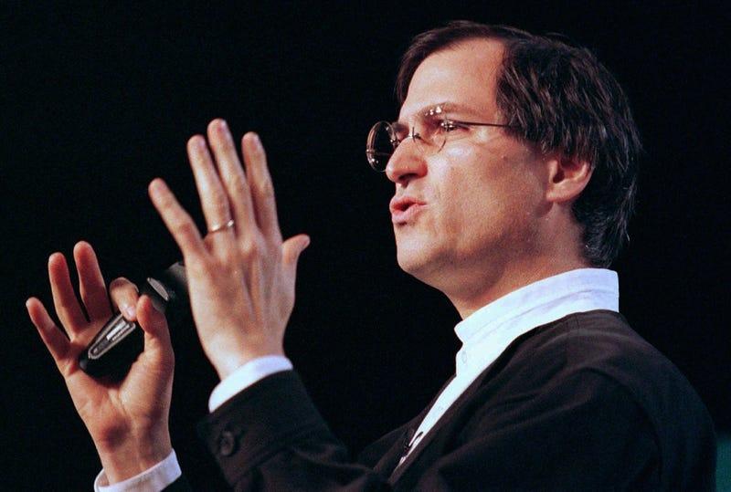 Steve Jobs en la MacWorld de 1997. AP