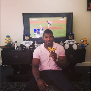 Illustration for article titled Yasiel Puig Is A Giant Six-Year-Old, And It's Great