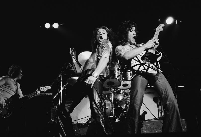 Van Halen performs in London in 1978. (Photo: Fin Costello/Redferns/Getty Images)