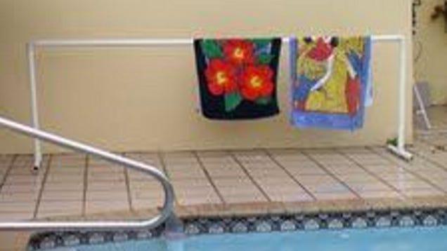 Build A PVC Pool Towel Rack