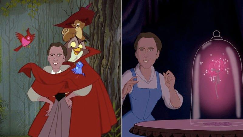 Illustration for article titled Nicolas Cage as Disney Princesses Is Natural End of Disney Princess Meme