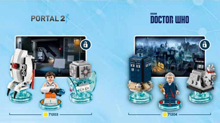 Illustration for article titled Lego Dimensions instruction manuals reveal Portal and Doctor Who sets
