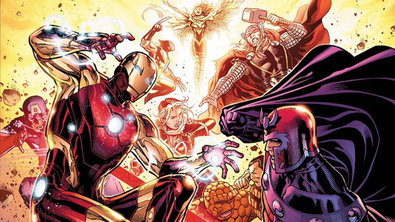 My thanks to the Marvel of the past for Avengers vs X-Men, a series perfect for providing art for these Disney/Fox stories.