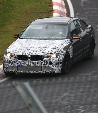 Illustration for article titled 2011 BMW M5 Spied Testing Twin-Turbos
