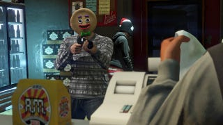 Illustration for article titled GTA Online'sGingerbread Mask Makes Everything Better