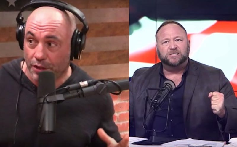 Alex Jones's Feud With Joe Rogan Is Just As Stupid As It Was Inevitable