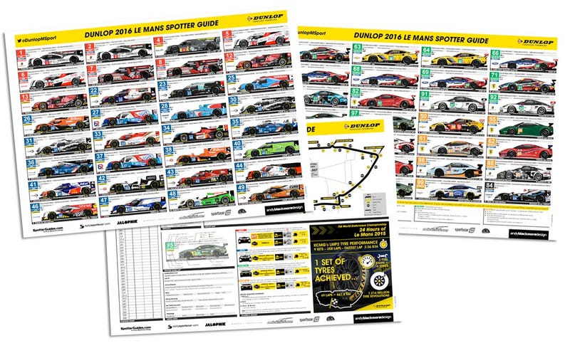 Illustration for article titled Here Is The Only 2016 24 Hours Of Le Mans Spotter Guide You Need