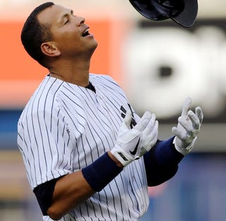 """Illustration for article titled Alex Rodriguez Flips The Bat After He """"Crushed"""" His Appeal Hearing"""