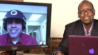 Jasiri X and Left of Black host Mark Anthony NealLeft of Black