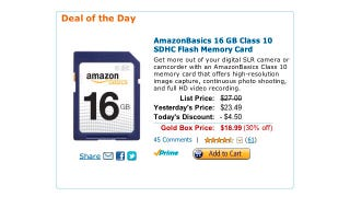 Illustration for article titled Get a 16GB Class 10 SDHC Memory Card for $19