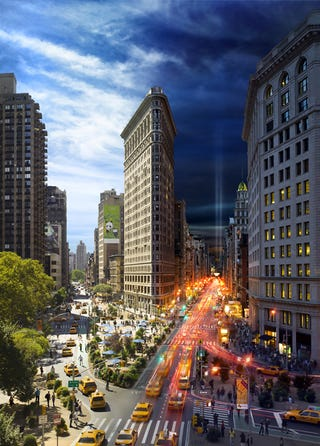 Illustration for article titled New York from Day to Night in One Picture