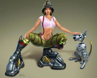 Illustration for article titled Enhanced Firefighters Have Really Big... Boots