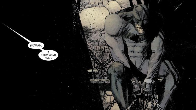 An imprisoned Batman.
