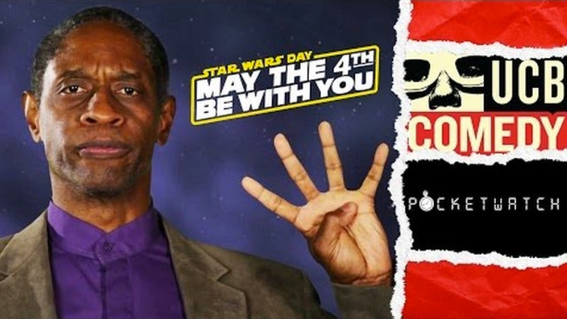 "Illustration for article titled Star Trek: Voyager's Tim Russ wants to give you the lowdown on ""Star Wars Day"""