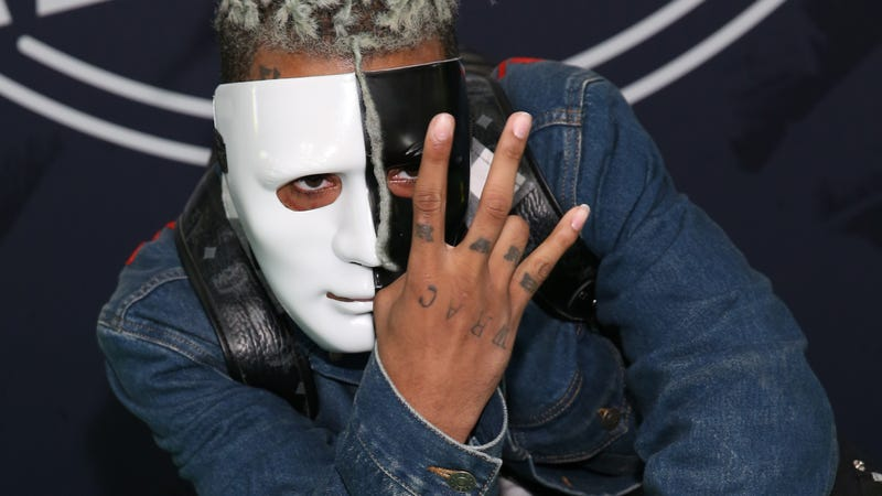 Rapper XXXTentacion attends the BET Hip Hop Awards 2017 at the Fillmore Miami Beach at the Jackie Gleason Theater on Oct. 6, 2017, in Miami Beach.