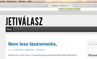 Illustration for article titled Próbaposztokkal elkezdték Uj Péterék, 444 lesz a lap igazi címe?