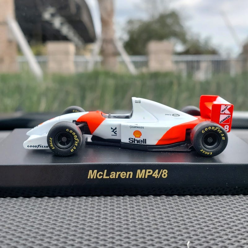 Illustration for article titled McLaren MP4/8: My first Kyosho purchase