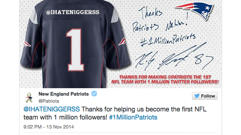 Maybe You Shouldn't Thank This Specific Follower, Patriots?