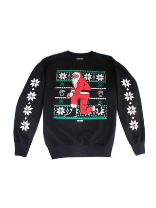 Black-Santa sweater by Nas' HSTRY collectionHSTRY