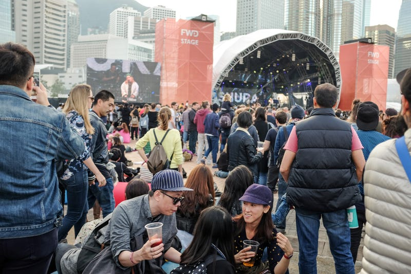 The crowd at Hong Kong's Clockenflap music and arts festival, 2016. (Photo: Stefan Irvine/LightRocket via Getty Images)